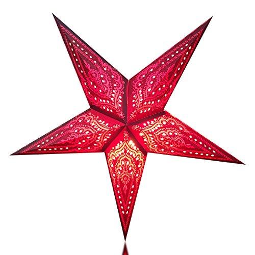Happy Sales HSSL-FPSLBL, Taj Mahal Paper Star Lantern Purple Pink (Sale Lantern)
