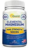 Elemental Magnesium Supplement – 180 Veggie Capsules – Max Strength Magnesium Citrate & Oxide 500 mg Formula, Mag Tablet Pills for Sleep & Vitamin Deficiency, Natural Calm Complex for Women & Men Review