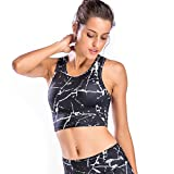 Move With You Womens Crop Tank Tops Workout Running High Neck Sports Bra with Built-in Bra Racerback