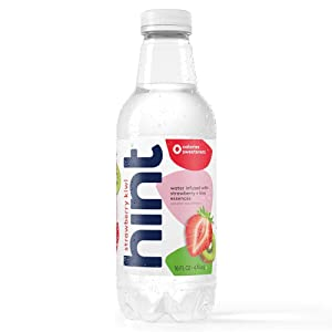 Hint Water Strawberry Kiwi (Pack of 12) 16 Ounce Bottles Pure Water Infused with Strawberry Kiwi Zero Sugar Zero Calories Zero Sweeteners Zero Preservatives Zero Artificial Flavors