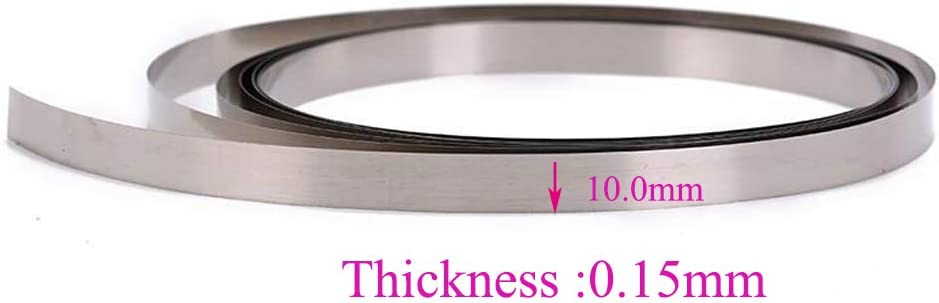 50 pcs Nickel plated Steel Strip Nickel Sheet Tape 0.1*4*10mm
