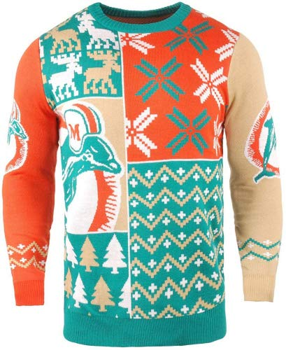 Miami Dolphins Ugly Sweater Dolphins Christmas Sweater Ugly