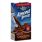 Blue Diamond Chocolate Almond Breeze Unsweetened 32 Oz (Pack of 12)