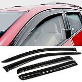 VXMOTOR For 2007-2015 Jeep Compass Mk Sun Rain Wind Guards Smoke Shade Deflector Window Visors