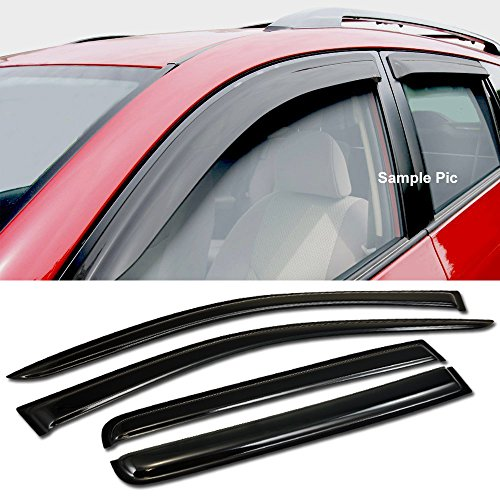 VXMOTOR For 2007-2015 Jeep Compass Mk Sun/Rain/Wind Guards Smoke Shade Deflector Window Visors