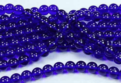 25 Cobalt Blue Czech Pressed Glass Druk Round Beads 8mm