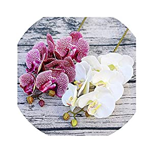 Zalin Artificial Butterfly Orchid Flowers Fake Moth Flor Orchid Flower for Home Wedding DIY Decoration Real Touch Home Decor Flore 30