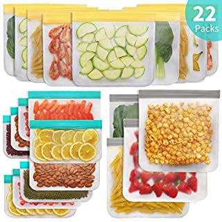 Jagrom Reusable Storage Bags (13 Pack) 2 Gallon & 5 Sandwich Lunch Bags & 6 Small Kids Snack Bags For Food, EXTRA THICK Leak Proof Reusable Food Bags, Freezer Bags, Reusable Zipper Bags, BPA FREE