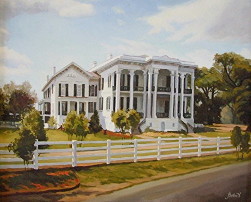 Louisiana Plantation with Fence Baltas Matted Art Print French Quarter