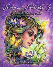 Fairy and Fantasy 3 Grayscale Coloring Book
