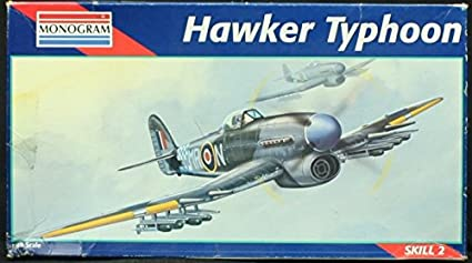 Amazon.com: Monogram 1: 48 Hawker Typhoon modelo kit # 5221 ...