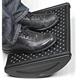 Bubble Active Ergonomic Foot Rest, Black, Non-Slip, Double-Sided, Excellent Under Desk Leg Clearance, Good for Healthy Working