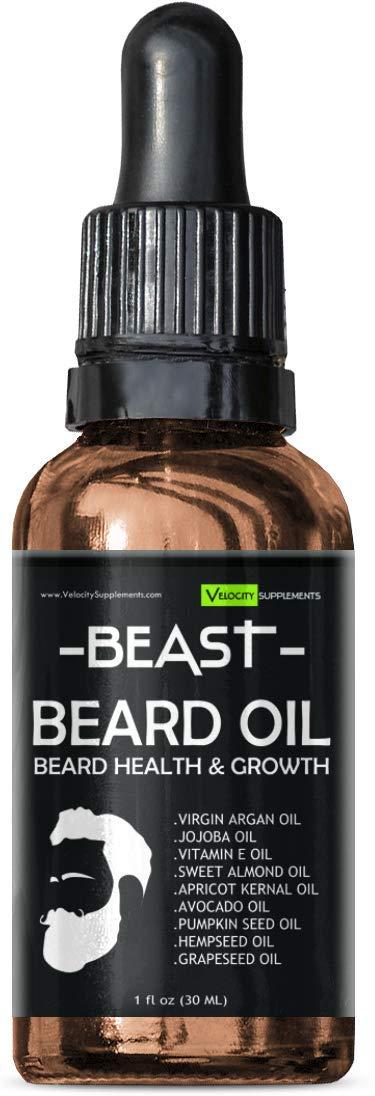 Beard Oil for Beard Growth, Beard Thickness, Beard Scent & Beard Health by Velocity Supplements (Image #4)