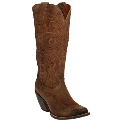 Lucchese Women's Handmade 1883 Laurelie Cowgirl Boot Medium Toe Brown 5.5  ...
