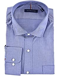 Men's Regular Fit Spread Collar Long Sleeve Dress Shirt