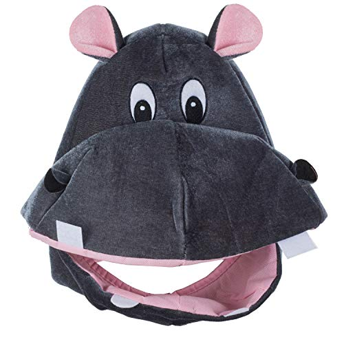 Tigerdoe Hippo Hat - Animal Hat - Hippopotamus Costume - Elephant Hat - Funny Costume Accessories - Animal Costume Hats (Hippo - Hats Kids Animal For
