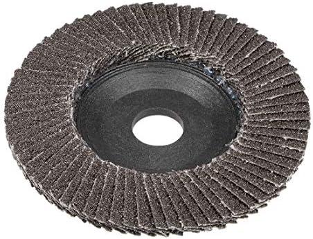 uxcell フラップディスク 酸化アルミニウム製 ブラウン 60グリット 100mmフラップディスク