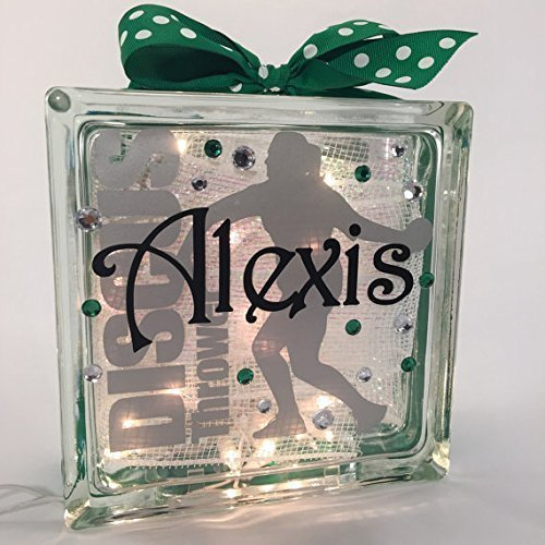 Track and Field Discus Thrower GemLight Personalized with Your Name and ()
