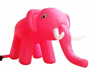 Amazon.com: Custom Simulated Modelos gigante elefante rosa ...