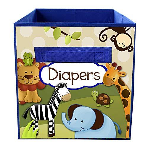 Toad and Lily Jungle Safari Personalized Bedroom Baby Nursery Fabric Bin Storage Organizer FB0069 -
