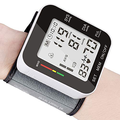Blood Pressure Monitor, Fully Automatic Accurate Wrist Blood Pressure Monitor with Wristband Automatic Wrist Electronic Blood Pressure Monitor Perfect for Health Monitoring for Home Use-Black