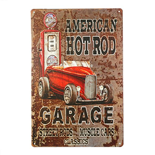 DL-Vintage Hot Rod Garage Tin Signs Bundle - Legends American Hot Rod Metal poster Plaque ()
