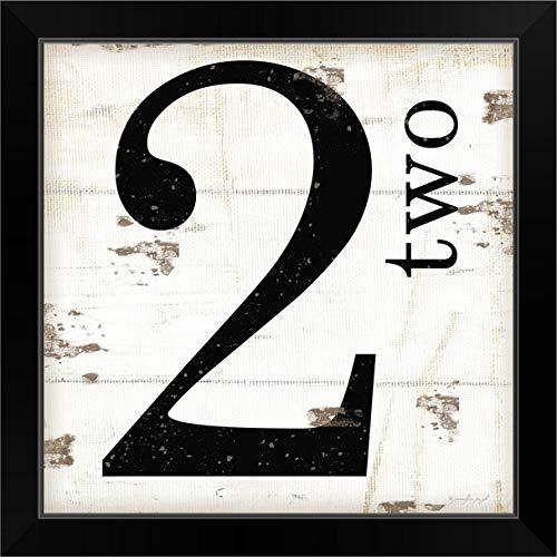 "CANVAS ON DEMAND Farmhouse Two 2"" Black Framed Art Print, 19""x19""x1"""