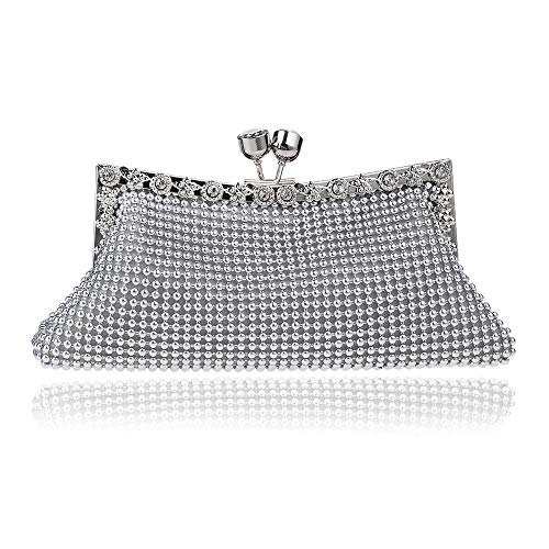 Hand Ladies Aluminum Banquet Evening Bag Bag Silver Dinner Bag GROSSARTIG Fashion 7YTzqYw