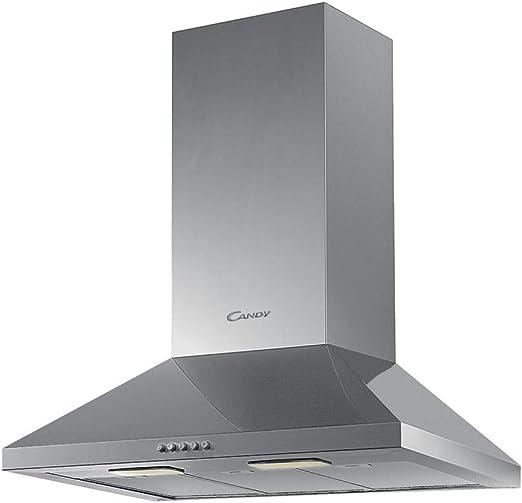 Candy CCE16/1X Campana CHIMENEA-60cm Ancho, 206 W, Gris: Amazon.es: Grandes electrodomésticos