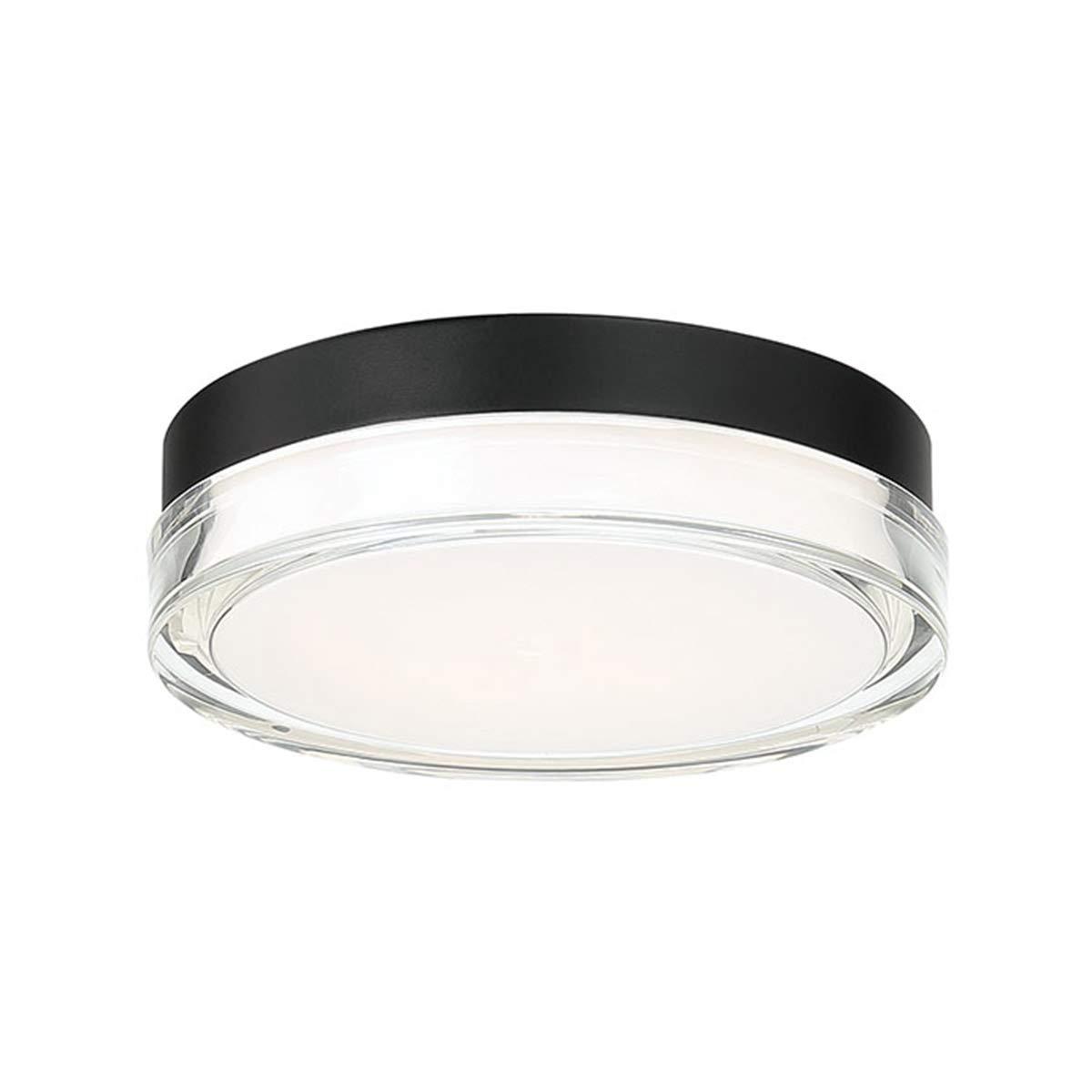 9 Inches, WAC Lighting FM-W57809-30-BK DweLED Dot 9in LED Round Flush Mount 3000K in Black Light Fixture