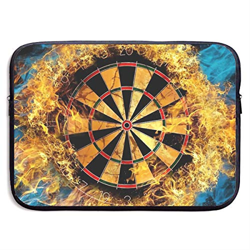 Laptop Sleeve MacBook 13 Inch 15 Inch Tablet Carrying Case Cases Flaming Dartboard Sports Game Neoprene Compatible Notebook Computer Bag ()