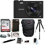 Sony Cybershot WX350 Digital Camera w/ 64GB SD Card Bundle