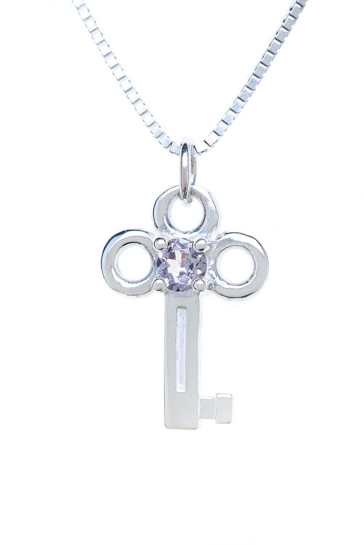 Sterling Silver Pendant Charm Key