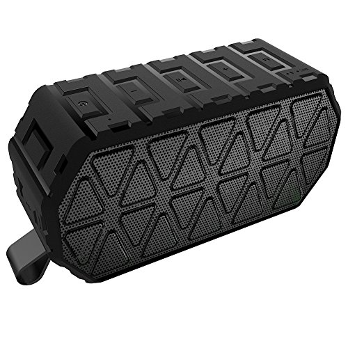 Bluetooth Speakers, ToHayie Wireless Bluetooth Speakers with 1000mAh Battery, 66- Foot Bluetooth Range & Built-in Mic for iPhone, Samsung and More (Black)