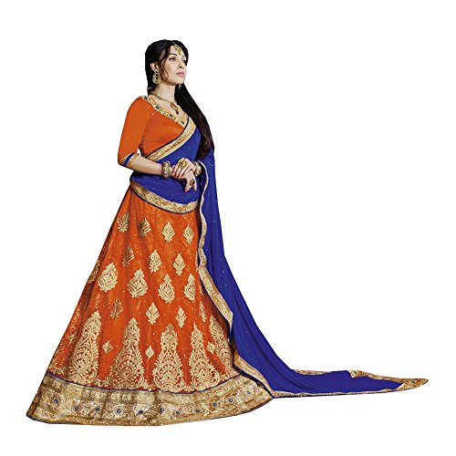 PCC Indian Women Designer Wedding ORANGE Lehenga Choli R-14694