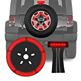 3rd Third Brake Light & Spare Tire Light for Jeep Wrangler Jk 2007-2017 LED Wheel Rear Tail Lights