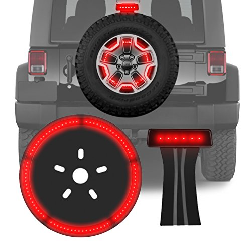 3rd Third Brake Light & Spare Tire Light for Jeep Wrangler Jk 2007-2017 LED Wheel Rear Tail - Light Brake Rear