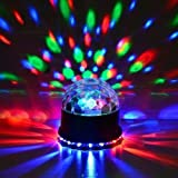 Funky 12w DJ Light Mini Disco Magic Ball RGB Crystal Combined LED Magic Ball & LED Sun Light Effect For Table Top Or Hanging Ideal Animation For Your Parties At Home