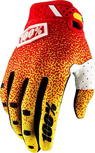 100% Ridefit Gloves (SMALL) (RED/YELLOW)