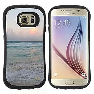"Pulsar iFace Series Tpu silicona Carcasa Funda Case para Samsung Galaxy S6 , Arena Summer Sunset Amanecer Océano"""
