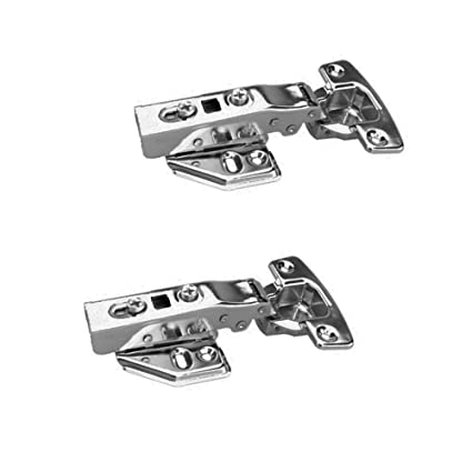 FYRONDY Full Overlay Stainless Steel Soft Slow Close Kitchen Cabinet Door  Hinges,ONE Pair (