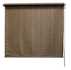 Coolaroo Outdoor Cordless Roller Shade 6ft X 8ft Walnut Outdoor Sunscreen Fabric