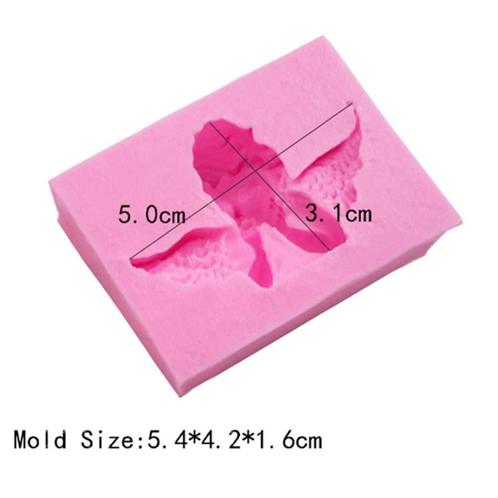 G/âteau Moule pour Bonbons Chocolat R/ésistance /à Haute Temp/érature Dentelle Sucette Moules /à P/âtisserie DIY Silicone Moule Ange Cupidon 3D