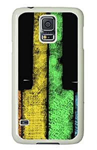galaxy s5 case,custom samsung galaxy s5 case, Piano keys diy samsung galaxy s5 case,TPU Material,Drop Protection,Shock Absorbent,white case
