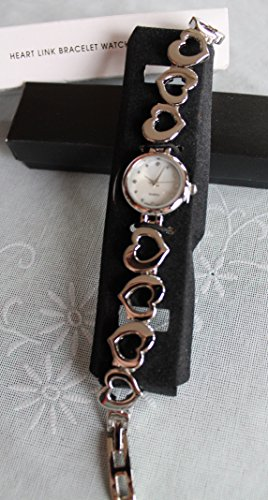 Heart Link Bracelet Watch By Avon