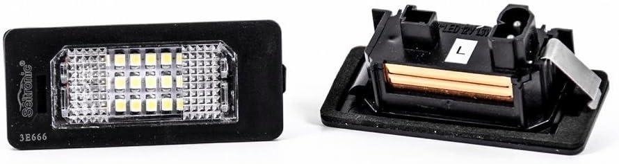sehr hell mit E4 Pr/üfzeichen 6000K Seitronic/® LED Kennzeichenbeleuchtung Module Xenon Weiss Kaltwei/ß mit ca
