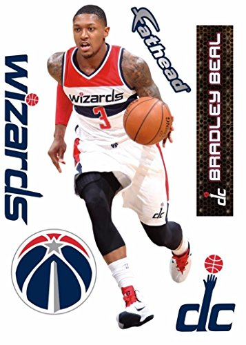 Bradley Beal FATHEAD Washington Wizards Logo Set Official NBA Vinyl Wall Graphics 17