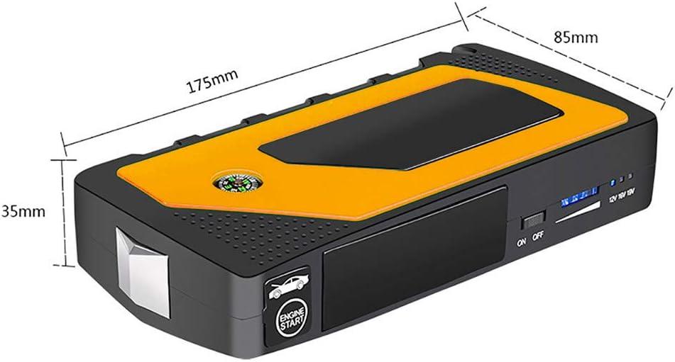 D/émarrage de Voiture LCD 4 USB Voiture Jump Starter Pack Booster Chargeur El/éctrique durgence Jusqu/'/à 6.0L Essence 3.0L Gazole 89800mAh Portable Jump Starter TriLance Booster Batterie Rouge