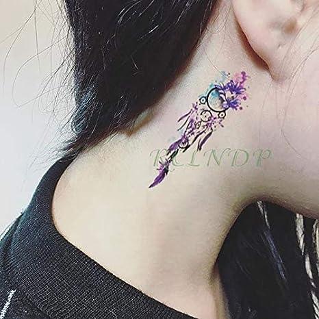 5pcs Impermeable del Tatuaje Pegatinas Lavanda Rose Tattoo Hermoso ...