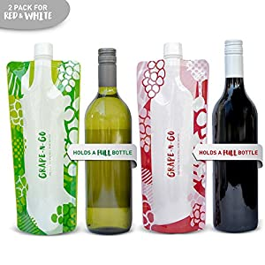 Foldable and Flexible Wine Travel Bottle by CAMOFLASK - Twin Pack - Wine On The Go